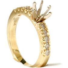 1/2ct Diamond Engagement Ring 14K Gold Setting Mount