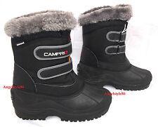 scarponi doposci snow donna bambino stivali invernali nero NUOVI 35,5 37 38 39,5