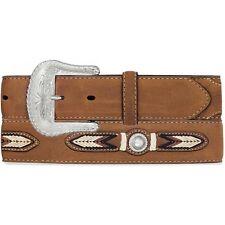 Tony Lama Western Mens Belt Leather Brown Southwest Conchos 7719L