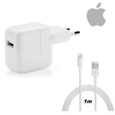 Caricabatterie Originale Apple Alimentatore 12W + Cavo Lightning 1M Per iPhone