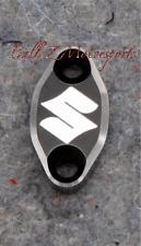 GSXR 600/750/1000 Black/Silver Ring Front Brake Mastercylinder Reservoir Clamp!!