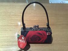 Borsettina porta trucchi/piccoli accessori/moneta fantasia Rosa Rossa
