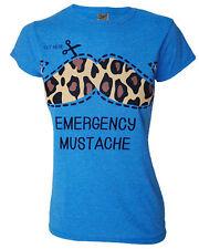 Darkside Clothing Emergency Moustache Mustache Leopard Blue Top Tshirt