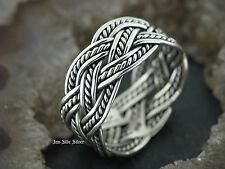 Ring Keltisch Zopf 3fach Celtic Silberring Gothic Silber 925 Fingerring Zopfring