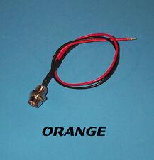 LED - 5mm PRE WIRED 12 VOLT WITH CHROME BEZEL- ORANGE
