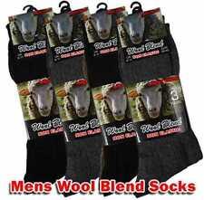 Mens Wool Blend Non Elastic Thermal Socks 3,6 Pairs Mens Diabetic Thermal Socks