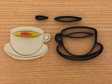 CAPPUCCINO COFFEE CUP Cookie Cutter Set fondente Decorazione Torte