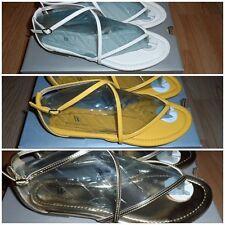 Worthington Women's Gladiator Thong Sandals Yellow, White, or Gold New In Box!