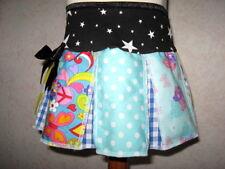 NEW Black White blue carebears stars spots check skirt party festival psy hippy