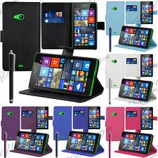 Housses Etui Portefeuille Support Video Microsoft Nokia Lumia 535/ 535 Dual SIM