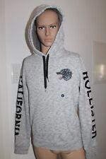 Hollister Homme Sweater Pull à Capuche avec Capuche Gris Noir Taille M ou L