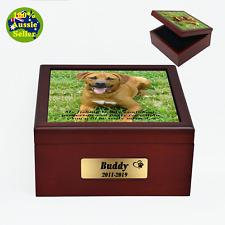 Large Dog (>90kg) Pet Urn Memorial Ashes Box. Personalised Suit Dog upto 90kg LW