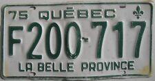 Canadien Plaque D'immatriculation État Québec Auto Dîner Décoration