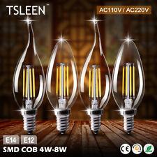 E14 E12 4W/8W EDISON FILAMENT LUMIÈRE LED AMPOULE VINTAGE BOUGIE/FLAMME LAMPE 9