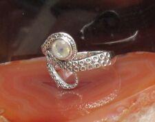 Ring Octopus Tintenfisch Mondstein weiß Stein des Juni Sterling Silber 925