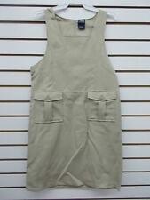 Girls French Toast Uniform Khaki Jumper Dress w/ 2 Pockets Size 16-20