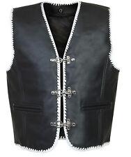 LEDERWESTE KUTTE MOTORRAD BIKER Vest CHOPPER LEDER WEST ROCKER CLUB Gr S 6XL