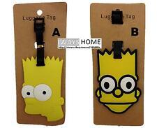 Simpson Family Cartoon Disney kid Travel Luggage Tag School Bag NEW Bart Simpson