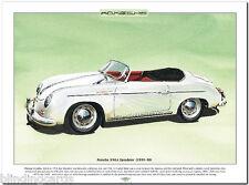 PORSCHE 356A SPEEDSTER (1955-58) Fine Art Print - A3 size picture sports car art