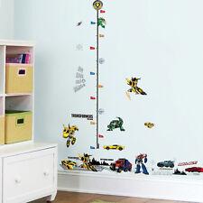 Transformers Height Chart  Wall Sticker Border Art Kids Nursery Decal Decor Gift