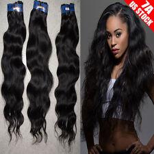 1-3 Bundles Real Unprocessed Virgin Human Hair Brazilian Peruvian 300g Thick C07
