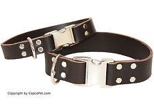 CopcopPet - Fettleder Hundehalsband - Strong