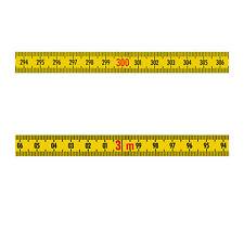 Skalenbandmaß Stahl rechts - links 13mm gelb Duplex sk825a Maßband 0,3m bis 100m