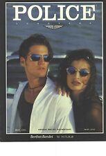 PUBLICITE ADVERTISING 1995    POLICE lunettes  solaires design Bruno Palmegiani