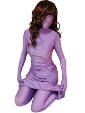 Halloween Costume catsuit purple Lycra Spandex Zentai Leotard full body suit