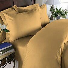 Gold Solid Extra Deep Pkt Sheet set 1000TC Egyptian Cotton