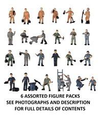 Model Railway Maintenance Workers / Crew Figures 6 Variations - HO/OO Scale