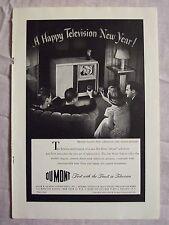 1947 Magazine Advertisement Page Du Mont Teleset Television TV Vintage Ad