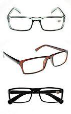 TN55 Top Style Reading Glasses Retro Fashion Unisex 9 Power Strengths upto +3.0
