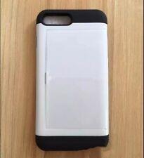 WHITE Slide iPhone Galaxy Wallet Case Credit Card Hidden Pocket Slot ID Cash
