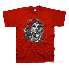 Tattoo Mexican style dia de lote Lendakaris pinup rockabilly t-shirt Flash * 1021 R.
