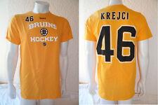 NHL Eishockey  T-Shirt BOSTON BRUINS David Krejci 46 gelb Name Number