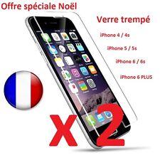 2 x Verre Trempé Film de protection d'écran pour iPhone SE ★ 5 ★ 6 ★ 6 Plus