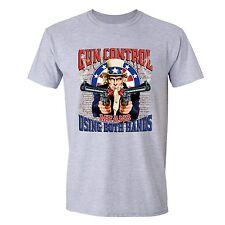 2nd Amendment Gun Control Tshirt Uncle Sam 4th of July clothin USA Flag T-shirt