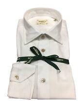 BORRIELLO camisa de hombre blanco operado 100 % algodón MADE IN ITALY