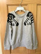 NWT Gymboree Girl Gray Zebra Sweatshirt Pullover 4,5/6,7/8,10/12,14