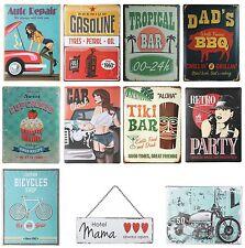 Plaque métallique en tôle-bouclier garage bar atelier mur cuisine deco vintage retro NEUF