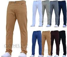 Hombre Nuevos Ajuste Normal Elástico Jeans Trabajo Pantalones Todas las Cinturas