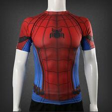 2017 Spider-Man:Homecoming T-Shirt 3D Printing Cosplay SpiderMan CoolT-Shirt New
