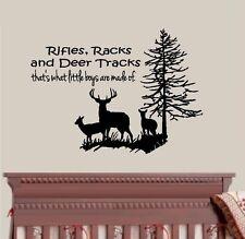 Rifles Racks and Deer Tracks, with Deer and Tree #4 ~ Wall or Window Decal