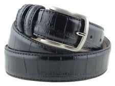 Cintura da uomo in pelle nera con stampa cocco artigianale made in Italy