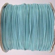 5m ou 10m Fil en Coton Ciré Bleu Clair Cordon coton cire, attache tetine, bijoux