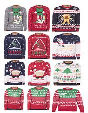 Unisex Christmas Crew Festive Santa Elf Tree Funny Novelty Xmas Jumper Sweater