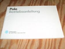 Betriebsanleitung VW Polo 86 c ,Stand 1988