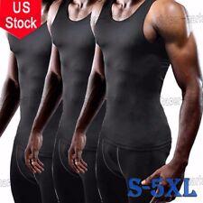 US Body Shaper Hot Thermo Sweat Shapewear Mens Tank Top Vest Activewear Apparel