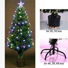 2ft, 3ft, 4ft, 5ft, 6ft in fibra ottica LED Albero di Natale PRE-ILLUMINATI NATALE DECORAZIONI